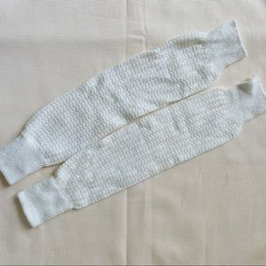 Free People Womens Leg Warmers Knee High Knit Whit